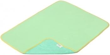 Двусторонняя многоразовая пеленка ЭКО ПУПС Jersey Classic, хлопок, р.50х70 см, зеленый ЭКО ПУПС