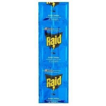 Купить Средства защиты от комаров и насекомых, Пластины Raid алюминиевые для фумигатора, 10 шт.