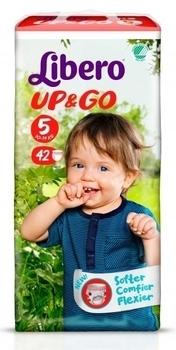 Подгузники-трусики Libero Up&Go, размер 5 (10-14 кг), 42 шт. Libero