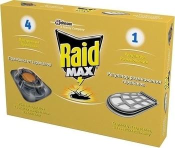 Купить Средства защиты от комаров и насекомых, Приманка Raid Max4 для тараканов