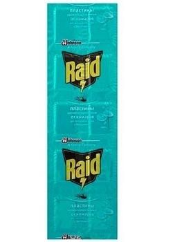 Купить Средства защиты от комаров и насекомых, Пластины Raid Эвкалипт для фумигатора, 10 шт.