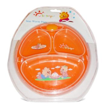 Деткая тарелка Забава на присоске с подогревом (33017) Забава