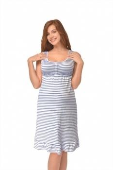 Ночная рубашка Мамин Дом Summer, р.50, синяя полоска (24164) Мамин Дом