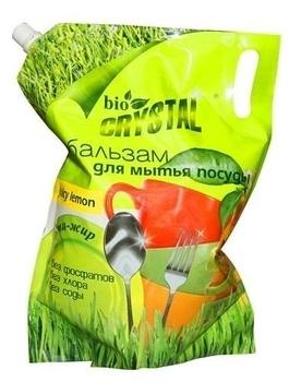 bio crystal Бальзам Bio Crystal для мытья посуды Juicy Lemon Duo-Pack, 2 л