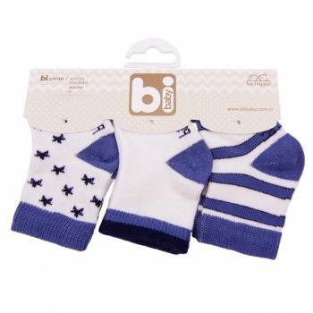 Носочки Bibaby, 8-9 см, синий, 3 пары (68107) Bibaby