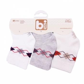 Носочки для мальчика Bibaby, 8-9 см, серый, 3 пары (68031) Bibaby