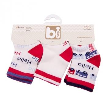Носочки Bibaby, 8-9 см, белый с красным (68089) Bibaby