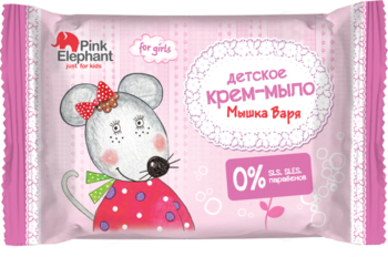 Крем-мыло Pink Elephant Мышка Варя, 90 г Pink Elephant