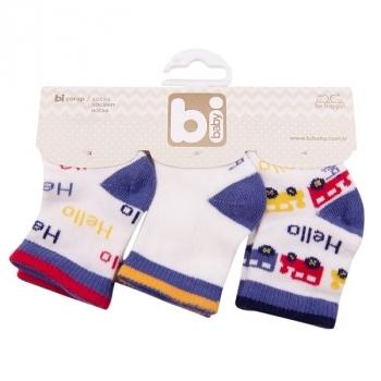 Носочки Bibaby, 8-9 см, белый с голубым (68089) Bibaby