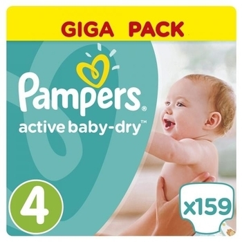 Подгузники Pampers Active Baby-Dry Maxi 4 (8-14 кг) GIGA PACK, 159 шт. Pampers