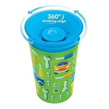 Поильник-непроливайка Munchkin Sippy, 266 мл, зеленый с голубым (012295.04) Munchkin