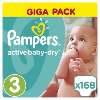 Подгузники Pampers Active Baby-Dry Midi 3 (5-9 кг) GIGA PACK, 168 шт. Pampers