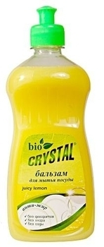 bio crystal Бальзам для мытья посуды Bio Crystal Juicy Lemon, 450 мл