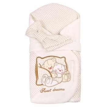 Конверт Royal Infant Мишки на диване, молочный в горошек (1102) Royal Infant