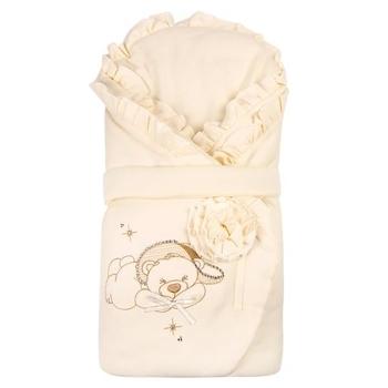 Конверт Royal Infant Мишка с розой, кремовый (1101) Royal Infant