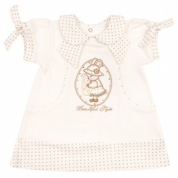 royal infant Платье Royal Infant Beautiful, интерлок, р.86, молочный (1135)
