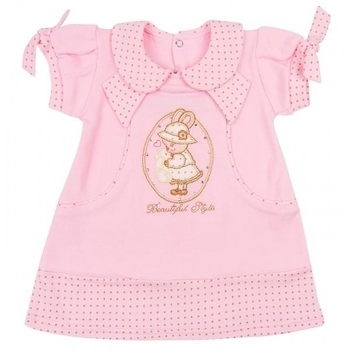 royal infant Платье Royal Infant Beautiful, интерлок, р.62, розовый (1134)