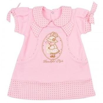 royal infant Платье Royal Infant Beautiful, интерлок, р.74, розовый (1135)