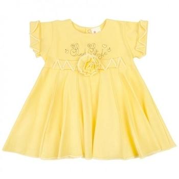 royal infant Платье Royal Infant Сладкий стиль, интерлок, р.62, желтый (1126)
