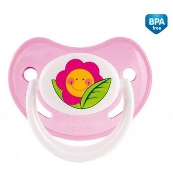 Силиконовая анатомическая пустышка Canpol Babies Веселый сад, 6-18 мес., розовый (22/560) Canpol babies