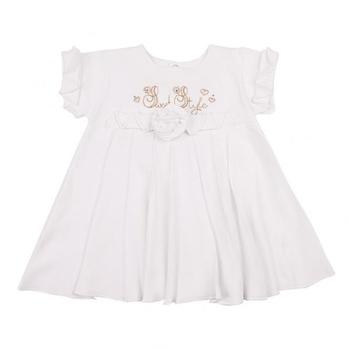 royal infant Платье Royal Infant Сладкий стиль, интерлок, р.74, белый (1127)