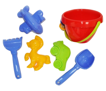 Набор для песочницы Simba с ведерком, красный (711 0550/1036) Simba