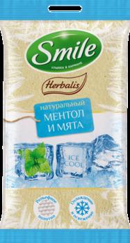 Влажные салфетки Smile Herbalis Ice Сool, 10 шт Smile