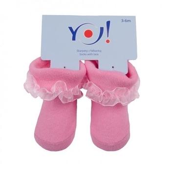 Носочки с рюшами YO!, 6-9 мес., розовый (SKFA BABY MIX 6-9)   Купить в  интернет-магазине детских товаров в Украине - Pampik eceddd279d5