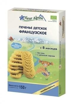Купить Печенье и сладости, Печенье детское Fleur Alpine Органик Французское, 150 г
