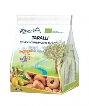 Купить Печенье и сладости, Сушки Fleur Alpine Органик итальянские на оливковом масле Таралли, 125 г