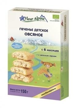 Купить Печенье и сладости, Печенье детское Fleur Alpine Органик Овсяное, 150 г