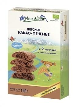 Купить Печенье и сладости, Печенье детское Fleur Alpine Органик Какао, 150 г