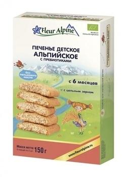 Купить Печенье и сладости, Печенье детское Fleur Alpine Органик Альпийское с пребиотиками, 150 г