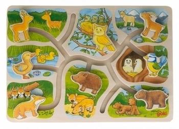 Купить Пазлы, шнуровки и головоломки, Пазл-головоломка Goki Животные (57749)