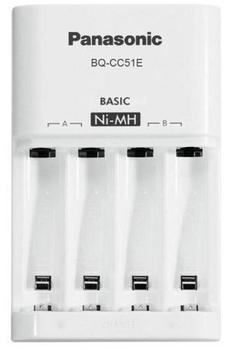 Купить Батарейки и аккумуляторы, Зарядное устройство Panasonic Basic Charger New (BQ-CC51E)
