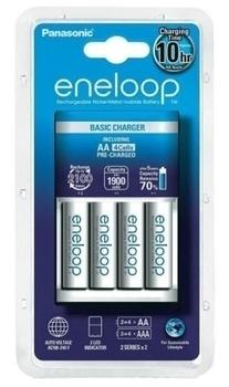 Купить Батарейки и аккумуляторы, Зарядное устройство Panasonic Basic Charger Eneloop 4AA New (K-KJ51MCC40E)