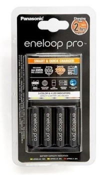 Купить Батарейки и аккумуляторы, Зарядное устройство Panasonic Smart-Quick Charger Eneloop Pro 4AA Ni-Mh (K-KJ55HCD40E)