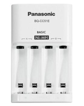 Купить Батарейки и аккумуляторы, Зарядное устройство Panasonic Basic Charger New + Eneloop 4AAA Ni-Mh (K-KJ51MCC04E)