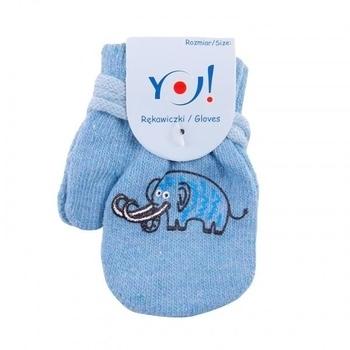 yo! Варежки YO! ABS с добавкой шерсти, р.10, голубой, мамонт (R-002/BOY/10)