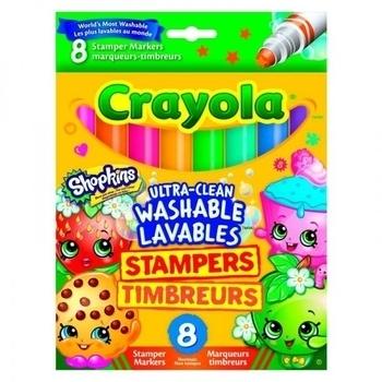 Купить Творчество и канцтовары, Фломастеры Crayola Shopkins со штампами, 8 шт. (58-8152)