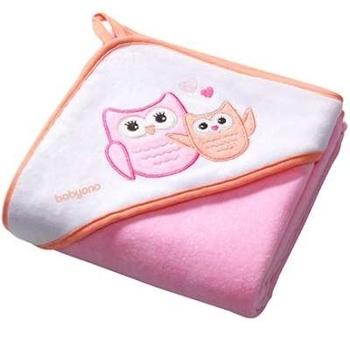 Купить со скидкой Полотенце с капюшоном BabyOno Сова, 100х100 см, розовый (138/01)