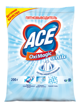 ace Пятновыводитель ACE Oxi Magic White, 200 г 2702250