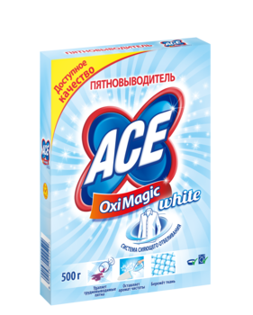 ace Пятновыводитель ACE Oxi Magic White, 500 г 2702252