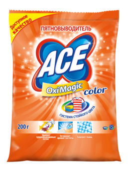 ace Пятновыводитель ACE Oxi Magic Color, 200 г 2702254