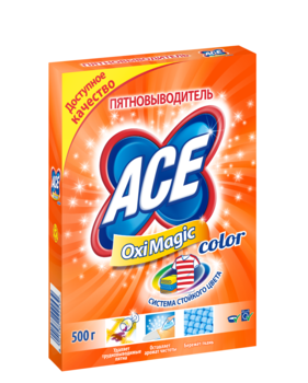 ace Пятновыводитель ACE Oxi Magic Color, 500 г 2702253