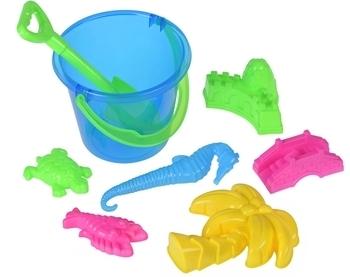 Купить Наборы для песка и воды, Набор для игры с песком Same Toy, 8 предметов, синий (HY-1204WUt-1)