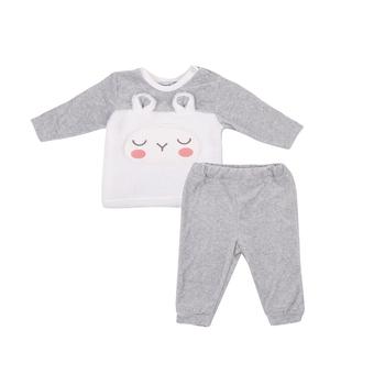 Комплект Bonne Baby, велюр, р.74, серый (374276)   Купить в  интернет-магазине детских товаров в Украине - Pampik 65176a10010