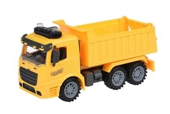 Купить Игрушечный транспорт, Машинка Same Toy Truck Самосвал, со светом и звуком, желтый (98-611AUt-1)