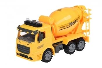 Купить Игрушечный транспорт, Бетономешалка Same Toy Truck, со светом и звуком, желтый (98-612AUt-2)