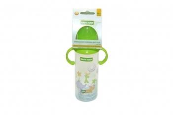 Купить Бутылочки и соски, Бутылочка с силиконовой соской Baby Team 0+, 250 мл, зеленый (1411), Зеленый